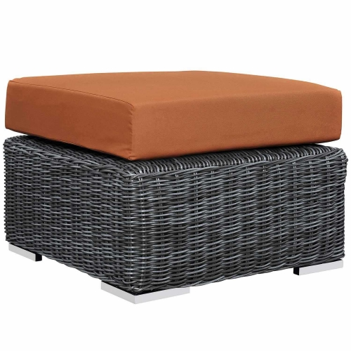 Summon Outdoor Patio Sunbrella Ottoman - Canvas Tuscan