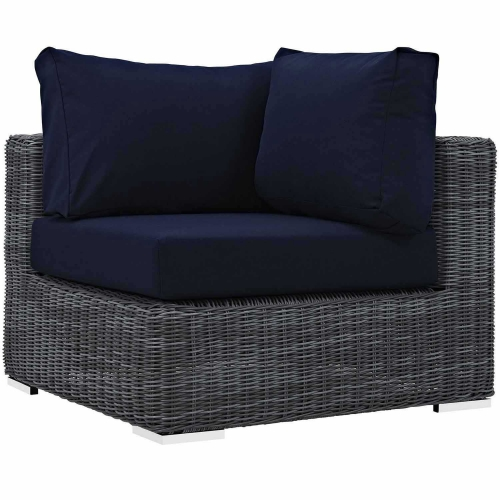 Summon Outdoor Patio Sunbrella Corner - Canvas Navy