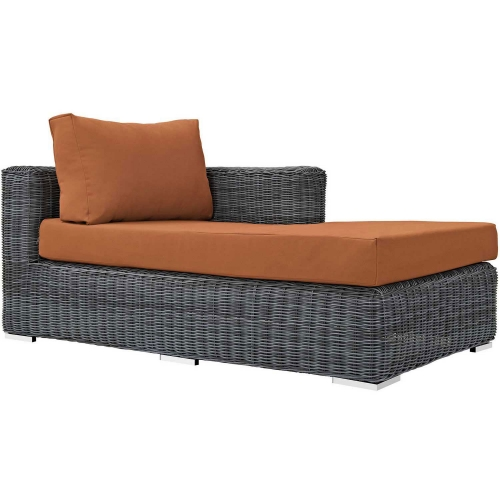Summon Outdoor Patio Sunbrella Right Arm Chaise - Canvas Tuscan