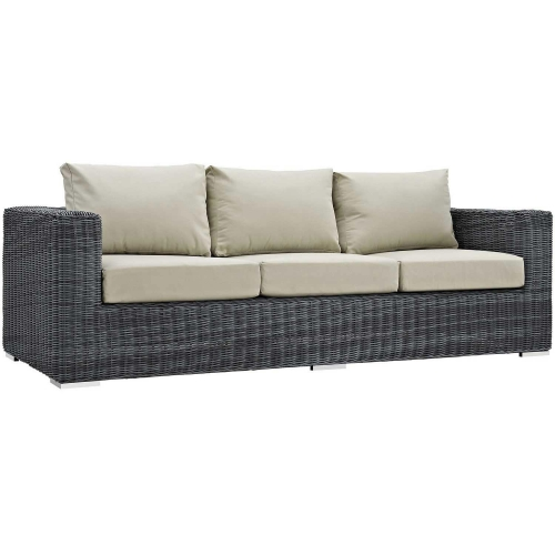 Summon Outdoor Patio Sunbrella Sofa - Canvas Antique Beige