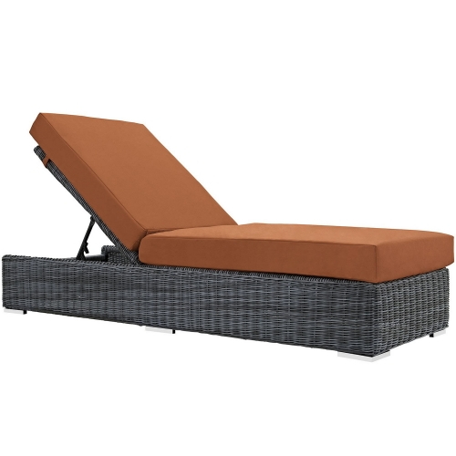 Summon Outdoor Patio Sunbrella Chaise Lounge - Canvas Tuscan