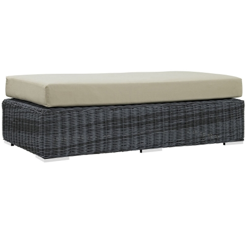 Summon Outdoor Patio Sunbrella Rectangle Ottoman - Canvas Antique Beige