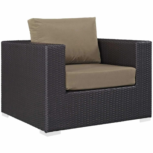 Convene Outdoor Patio Arm Chair - Espresso Mocha