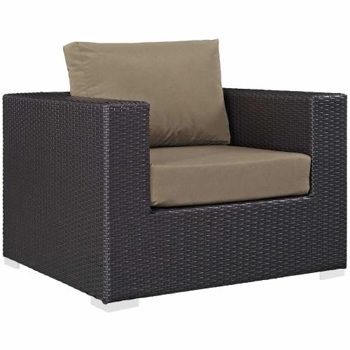 Convene Outdoor Patio Arm Chair - Espresso Mocha
