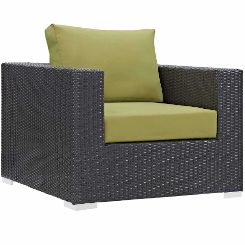 Convene Outdoor Patio Arm Chair - Espresso Peridot