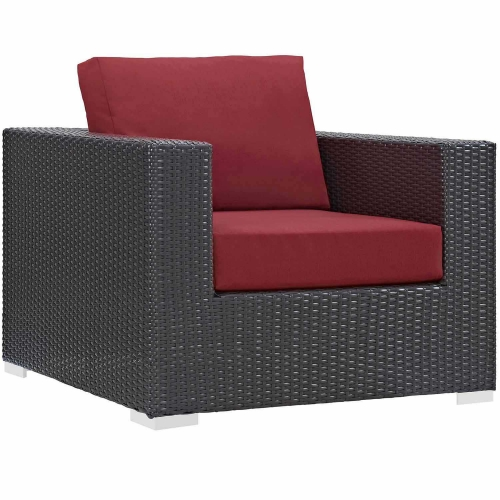 Convene Outdoor Patio Arm Chair - Red