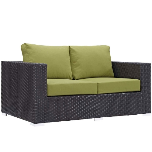Convene Outdoor Patio Loveseat - Espresso Peridot