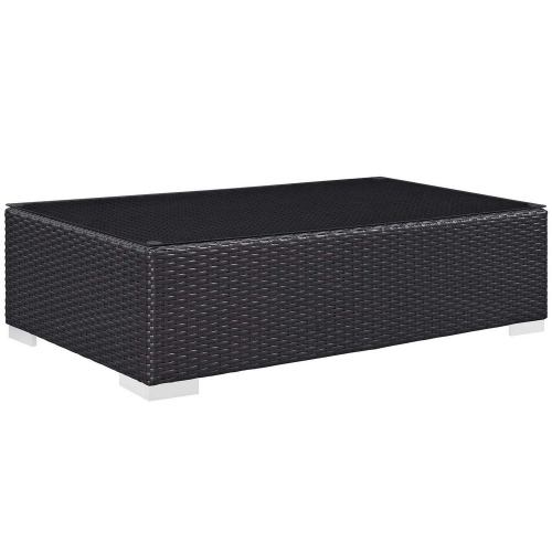 Convene Outdoor Patio Coffee Table - Espresso