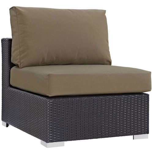Convene Outdoor Patio Armless - Espresso Mocha