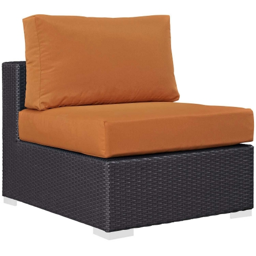 Convene Outdoor Patio Armless - Espresso Orange
