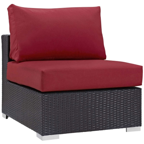 Convene Outdoor Patio Armless - Espresso Red