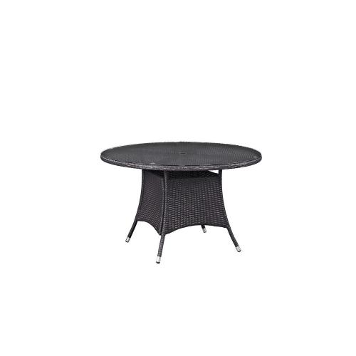 Convene 47-inch Round Outdoor Patio Dining Table - Espresso