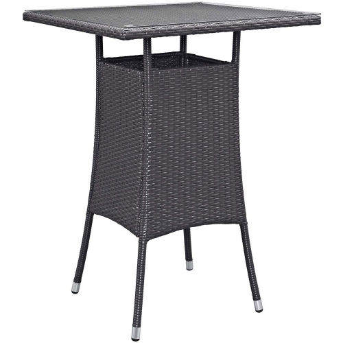 Convene Small Outdoor Patio Bar Table - Espresso
