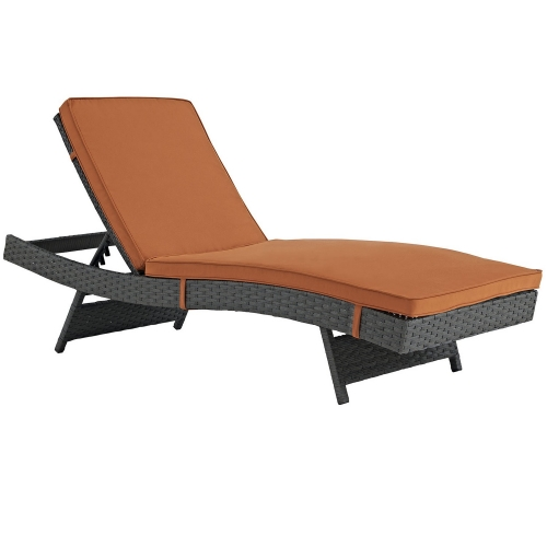 Sojourn Outdoor Patio Sunbrella Chaise - Canvas Tuscan