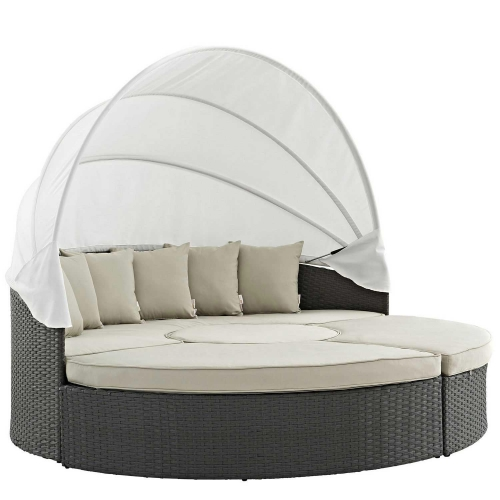 Sojourn Outdoor Patio Sunbrella Daybed - Antique Canvas Beige