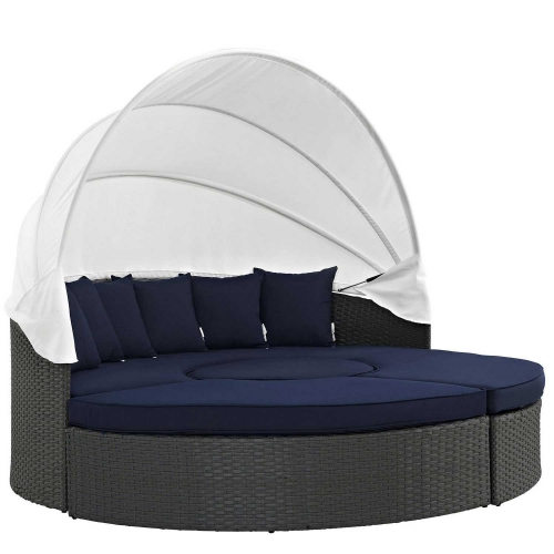 Modway Sojourn Outdoor Patio Sunbrella Daybed - Canvas Navy