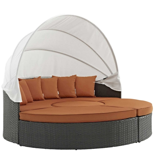 Sojourn Outdoor Patio Sunbrella Daybed - Canvas Tuscan