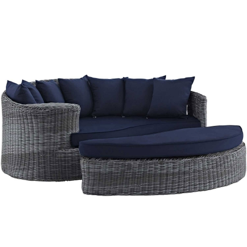 Summon Outdoor Patio Sunbrella Daybed - Canvas Navy