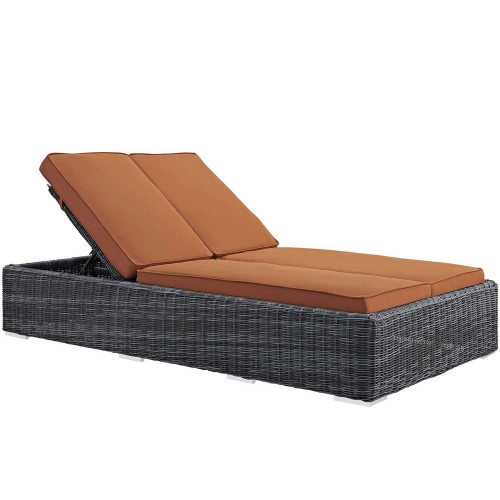 Summon Double Outdoor Patio Sunbrella Chaise - Tuscan