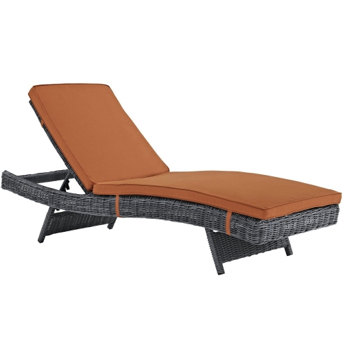 Summon Outdoor Patio Sunbrella Chaise - Canvas Tuscan
