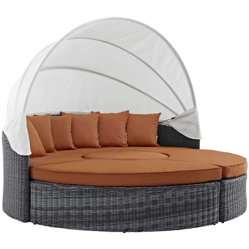 Summon Canopy Outdoor Patio Sunbrella Daybed - Canvas Tuscan