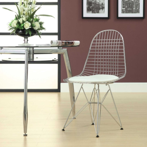 Tower Dining Side Chair - White