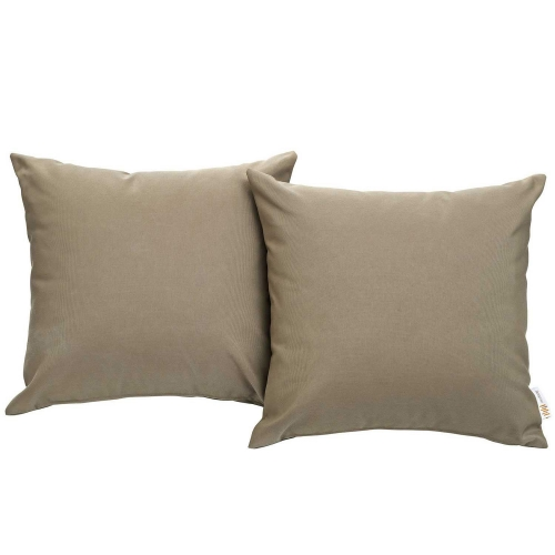 Convene Two Piece Outdoor Patio Pillow Set - Mocha