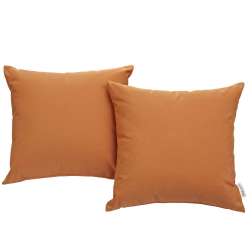 Convene Two Piece Outdoor Patio Pillow Set - Orange