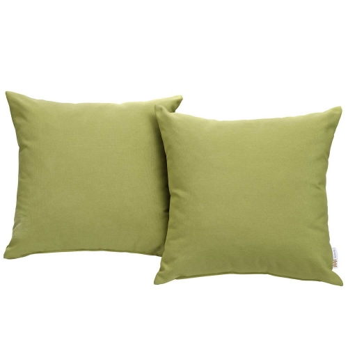 Modway Convene Two Piece Outdoor Patio Pillow Set - Peridot