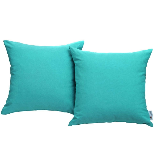 Convene Two Piece Outdoor Patio Pillow Set - Turquoise