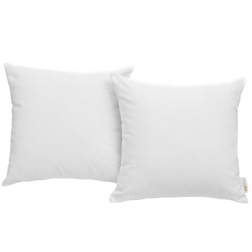 Convene Two Piece Outdoor Patio Pillow Set - White