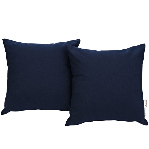 Summon 2 Piece Outdoor Patio Pillow Set - Navy