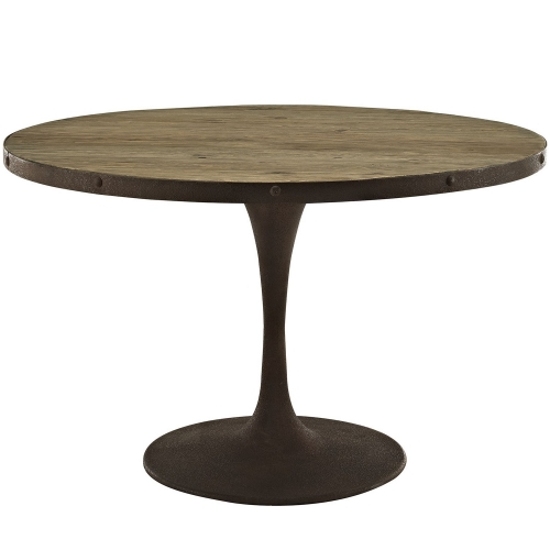 Drive 48-inch Round Wood Top Dining Table - Brown