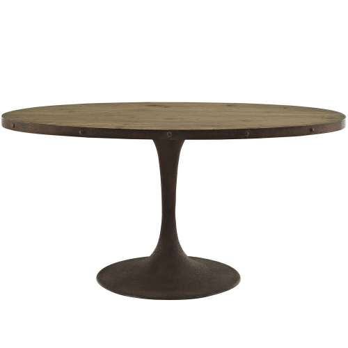 Drive 60-inch Oval Wood Top Dining Table - Brown