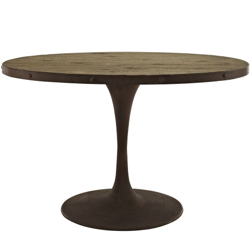 Drive 47-inch Oval Wood Top Dining Table - Brown