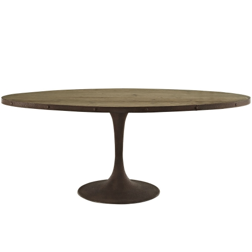 Drive 78-inch Oval Wood Top Dining Table - Brown