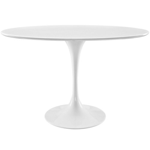 Lippa 48-inch Oval-Shaped Wood Top Dining Table - White