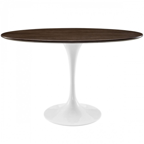 Lippa 48-inch Oval-Shaped Walnut Dining Table - Walnut