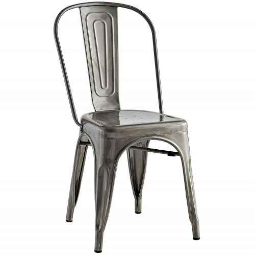 Promenade Side Chair - Gunmetal