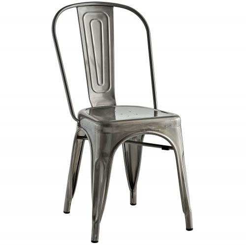 Promenade Side Chair - Gunmetal
