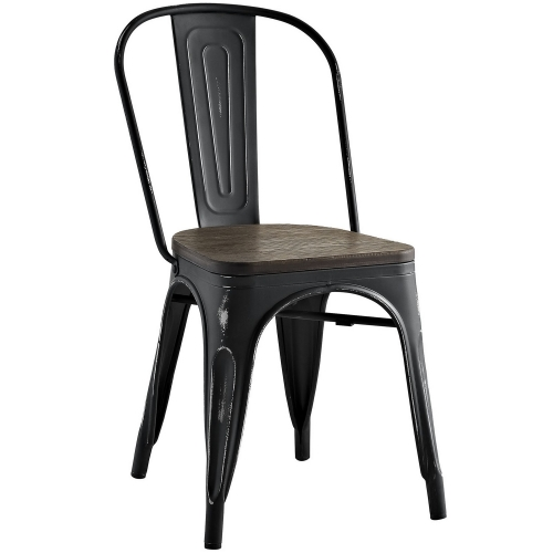 Promenade Bamboo Side Chair - Black
