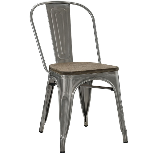 Promenade Bamboo Side Chair - GunMetal