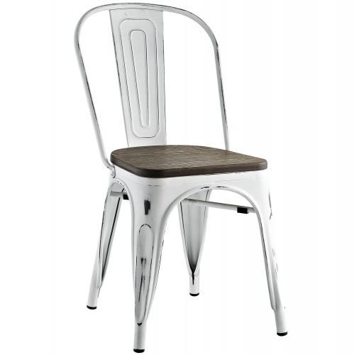 Promenade Bamboo Side Chair - White