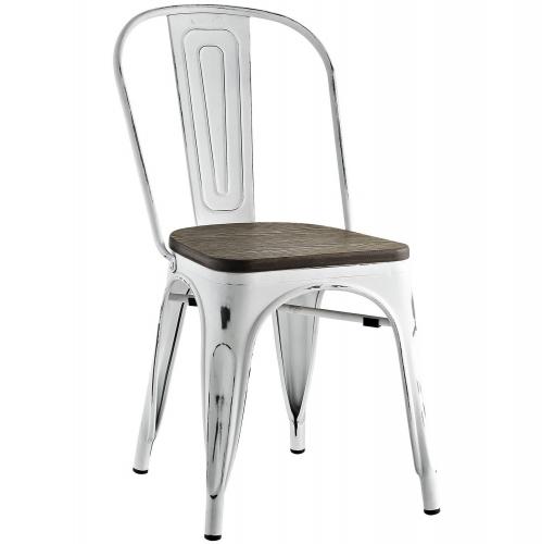 Promenade Bamboo Side Chair - White