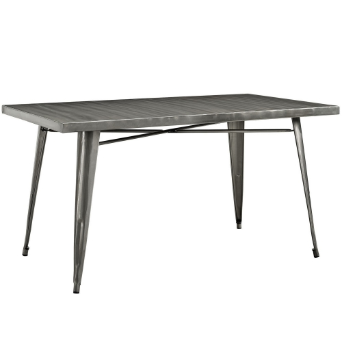 Alacrity Metal Dining Table - Gunmetal