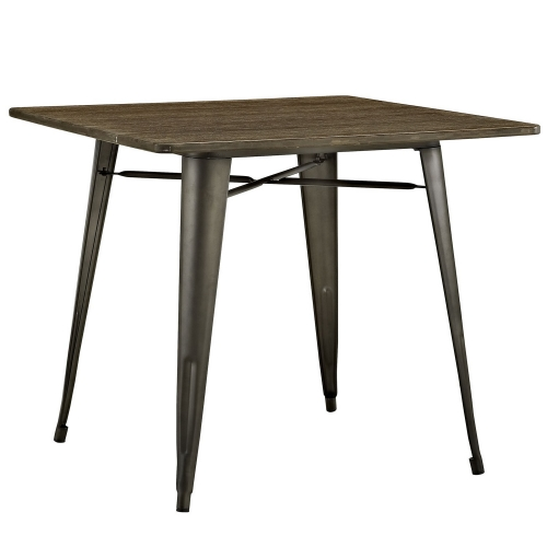 Alacrity 36-inch Square Wood Dining Table - Brown