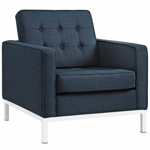 Loft Fabric Arm Chair - Azure