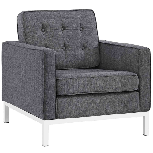 Loft Fabric Arm Chair - Gray
