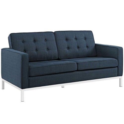 Loft Fabric Loveseat - Azure