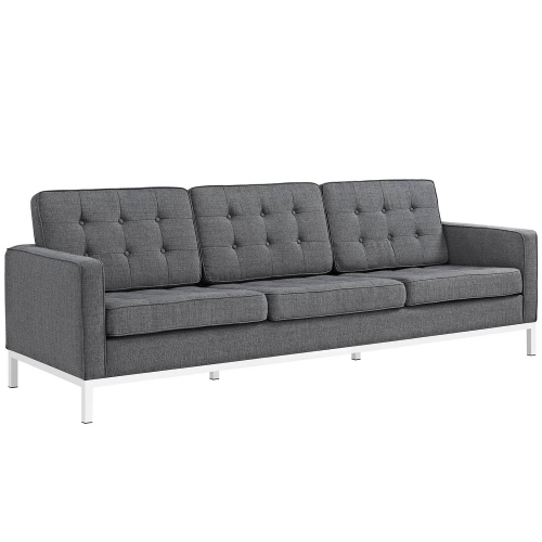 Loft Fabric Sofa Set - Gray